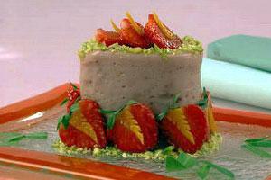 Желе клубнично-йогуртовое