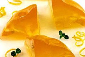 Лимонное желе с мятой