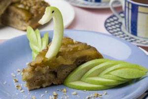 Кекс яблочный «Лебедь»