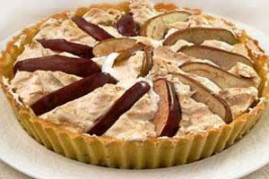 Пирог-безе с яблоками