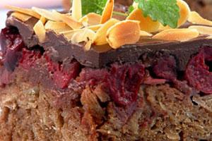 Пирог с вишней и шоколадом
