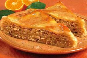 Миндально-кунжутный пирог