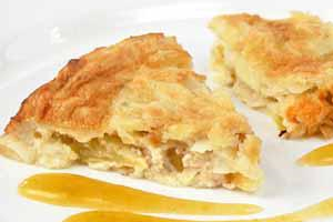 Пудинг яблочный с орехами (4)