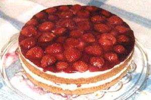 Клубнично-ванильный торт