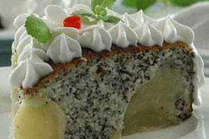 Яблочно-маковый торт