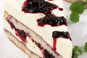 Торт с муссом из белого вина