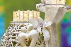 Торт «Серебряная свадьба» (4)