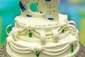 Торт «Серебряная свадьба» (6)