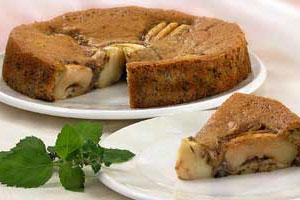 Яблочный торт с орехами