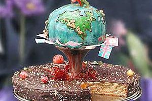 Торт «Любовью и единством сохраним нашу планету»
