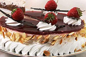 Клубнично-дынный торт