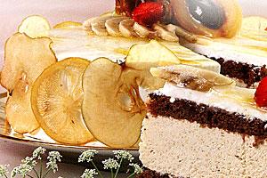 Торт «Сент-анж» с бананами и карамелью