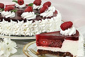 Малиново-шоколадный торт