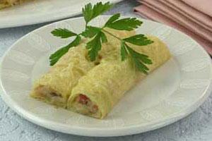 Блинчики с сырной начинкой (2)