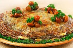 Торт из блинчиков с грибами
