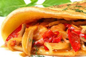 Оладьи с грибами и сыром