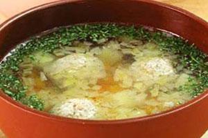 Суп картофельный с рыбными фрикадельками