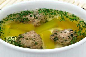 Суп с мясными фрикадельками и тыквой