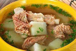 Суп из свиных ребрышек с картофелем