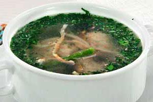 Суп с креветочными фрикадельками