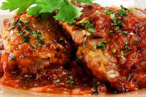 Цыпленок в белом винном соусе