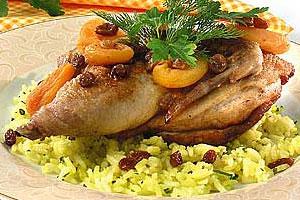 Джуджа-рис с цыпленком