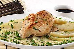 Цыпленок, тушенный с картофелем