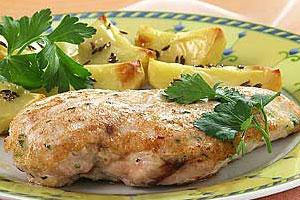 Курица с запеченным картофелем