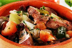 Мясо в остром соусе
