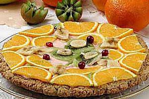 Овсяная лепешка с фруктами