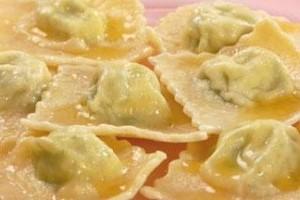 Пельмени с сыром и зеленью