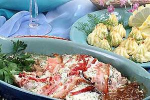 Запеченная рыба с беконом