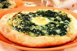 Мини-пицца с перепелиными яйцами