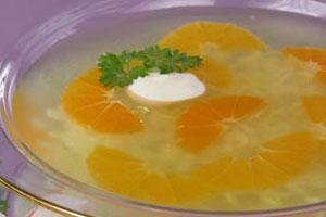 Холодный суп из цитрусовых