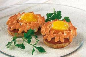 Горячие бутерброды «Гнездышко»