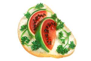 Бутерброды «Арбузные ломтики»