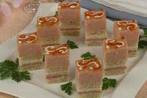 Бутербродный торт с ветчинным муссом (2)