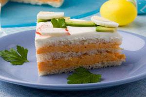 Торт бутербродный с морковью