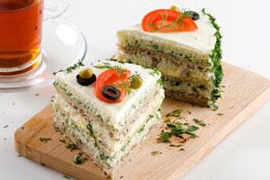 Бутербродный торт с говядиной