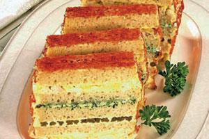 Торт-бутерброд со спаржей
