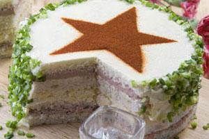 Торт бутербродный «Защитник Отечества»