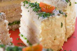 Бутербродный торт «Праздничный»