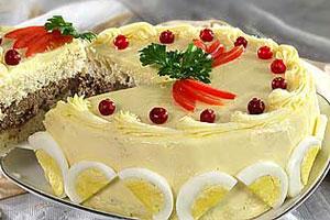 Закусочные бутербродные торты
