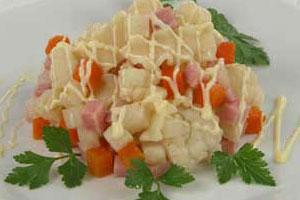 Салат датский с макаронами