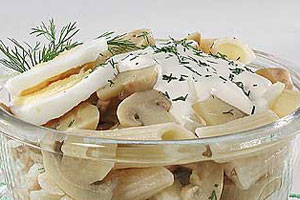Салаты с макаронными изделиями