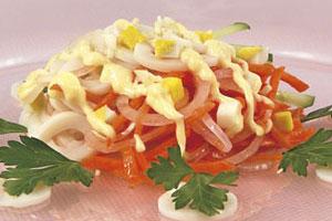 Салат с кальмарами (3)