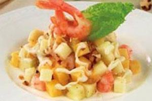 Салат с креветками и яблоками (2)