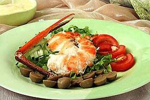 Салат «Род-Айленд» с омарами