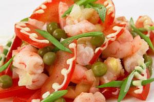 Салат «Легкий» с креветками