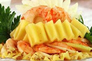 Салат из сыра с креветками (2)